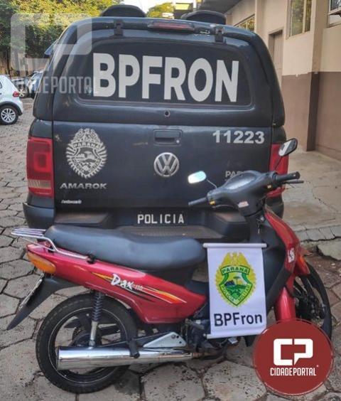 Operação Hórus recupera moto furtada no Paraguai em Foz do Iguaçu