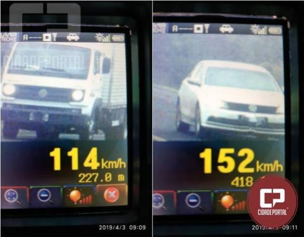 Operação radar em Cascavel autua 31 motoristas por excesso de velocidade