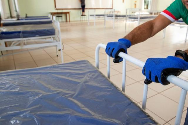 Visando se preparar para um estágio mais avançado da pandemia, Toledo organiza Hospital de Campanha