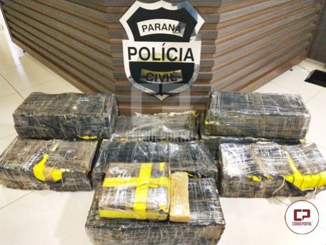 Integração entre forças de segurança pública resulta na apreensão de 167 quilos de maconha em Pato Branco