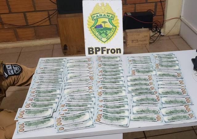 BPFron apreende 11 mil dólares durante patrulhamento em Nova Santa Rosa