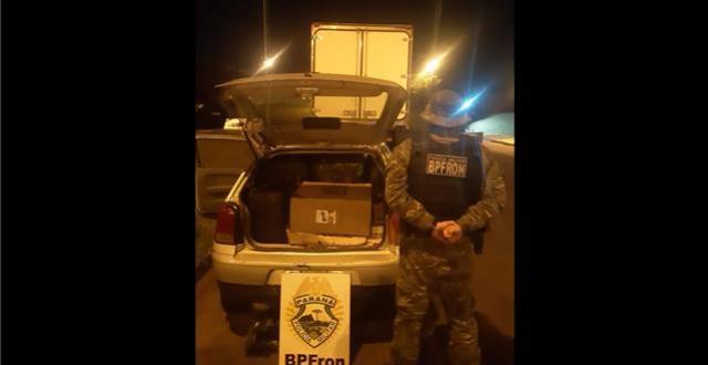BPFron apreende veículo carregado com cigarros contrabandeados em Foz do Iguaçu
