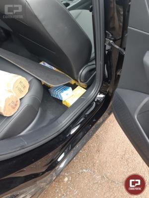 PRF encontra celulares em fundo falso de automóvel na cidade de Santa Terezinha