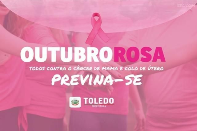 Programação Alusiva ao Outubro Rosa começa neste sábado, 05, em Toledo