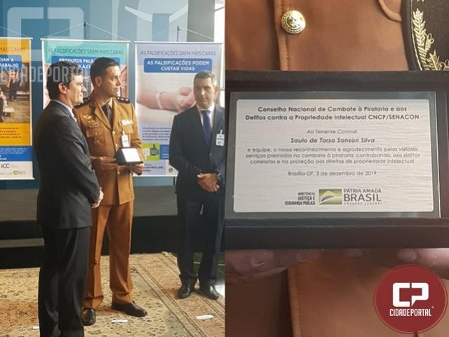 BPFRON é premiado em Brasília/DF pelo combate ao contrabando em Brasília