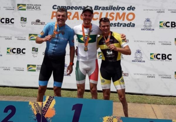 Luis Steffens é destaque no Campeonato Brasileiro de Paraciclismo 2019