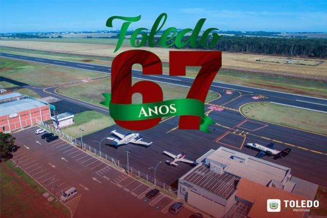 Toledo 67 Anos (1952-2019):  A aviação comercial promoveu o desenvolvimento desde a colonização