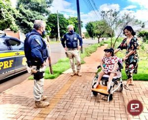 Policiais Rodoviários Federais realizam visita mais do que especial