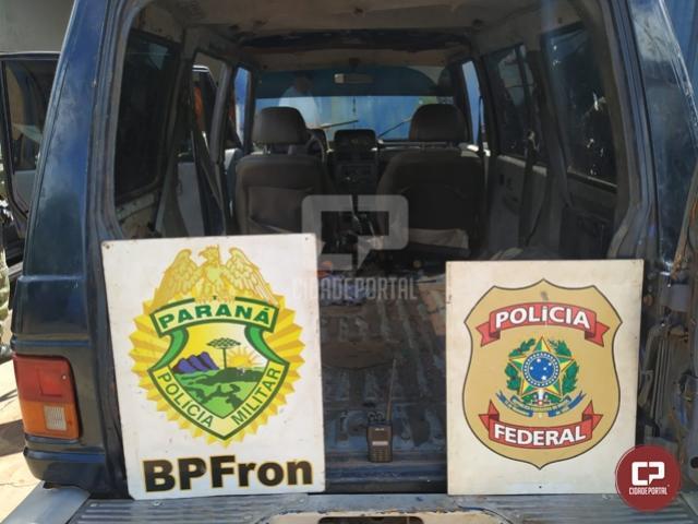 BPFron e Polícia Federal apreendem veículo durante Operação Hórus em Foz do Iguaçu