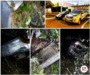 Quatro pessoas sofrem ferimentos leves em acidente entre Medianeira e Missal