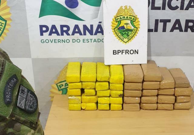 BPFron apreende maconha em fundo falso de veículo na cidade de Cascavel