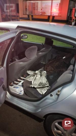 PRE de Marechal Cândido Rondon apreende carro carregado com cigarros contrabandeados em Maripá