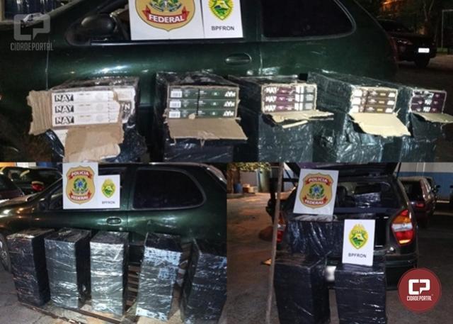 PF e BPFron apreendem veículo com essências de narguilé em porto clandestino na cidade de Foz do Iguaçu