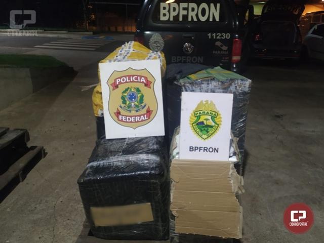 PF e BPFron apreendem volumes com mercadorias diversas em Foz do Iguaçu
