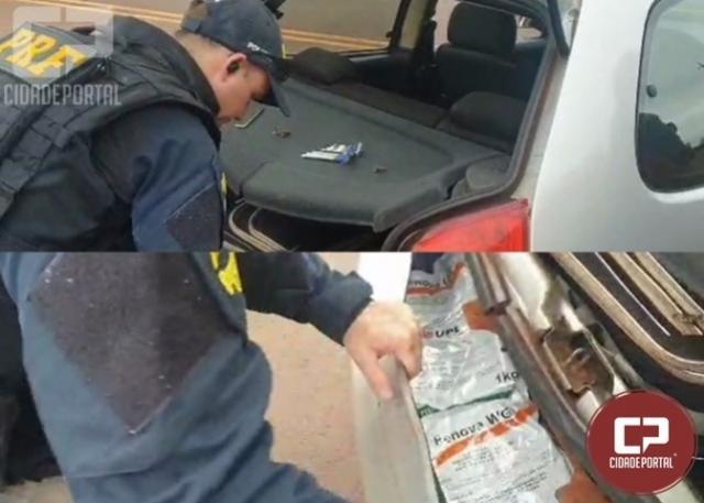 PRF apreende agrotóxicos contrabandeados em São Miguel do Iguaçu