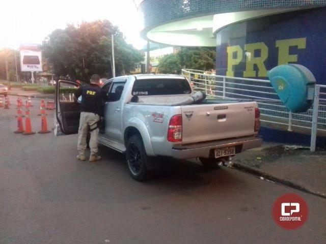 Polícia Rodoviária Federal recupera veículo na Ponte Internacional da Amizade