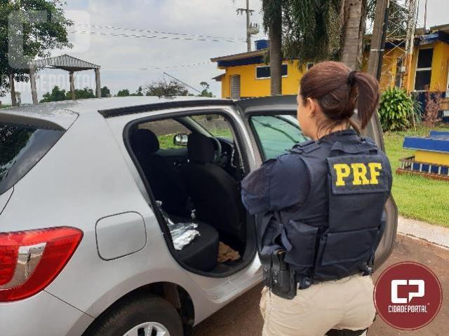 PRF encontra agrotóxicos em fundo falso de automóvel em São Miguel do Iguaçu