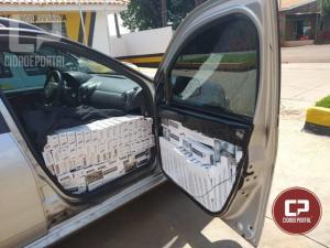 Equipe ROTAM da 3ª CIA de Cascavel apreende veículo carregado com cigarros contrabandeados