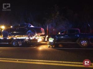 PRF apreende 815 kg de maconha e recupera duas caminhonetes em Virmond