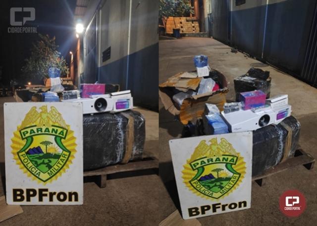 BPFRON apreende vários volumes de eletrônicos na cidade de Foz do Iguaçu