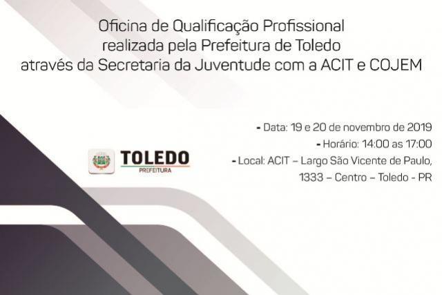 Qualificação Profissional é tema de oficina gratuita para jovens de Toledo