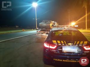 PRF faz acompanhamento tático a veículo carregado de cigarro em Marechal Cândido Rondon