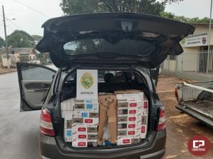 BPFron apreende veículo carregado com cigarros contrabandeados em Vera Cruz