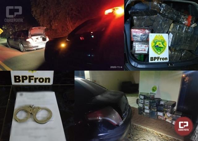 BPFron prende homem transportando mais de 253 kg de maconha em Capitão Leônidas Marques