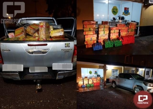 Posto Policial Rodoviário de Cascavel recupera veículo e apreende 641 quilos de maconha
