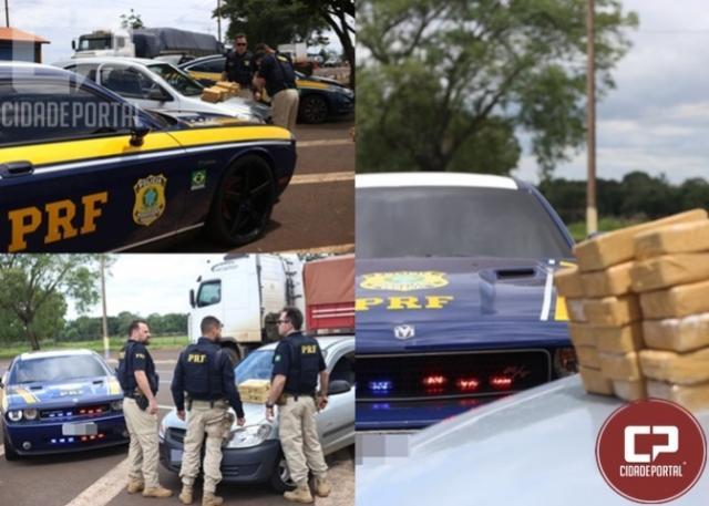PRF apreende crack e cocaína escondidos em carro em São Miguel do Iguaçu