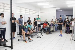 Atividade prática em academia do Alcides Pan encerra capacitação da Smel