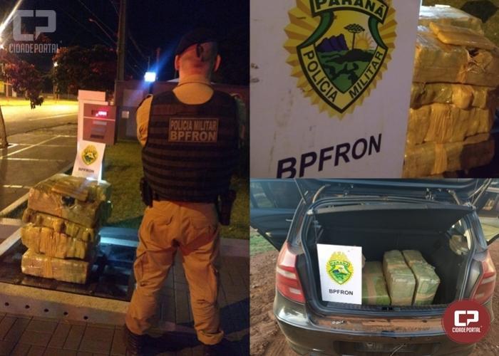 BPFron apreende 134 kg de maconha em carro que passava por Toledo