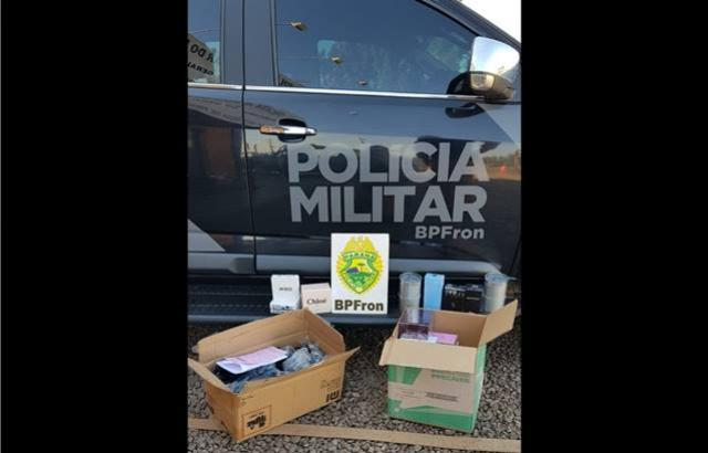 BPFron apreende contrabando em Marechal Cândido Rondon que iria Marília/SP por Correios