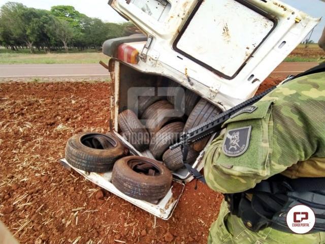 BPFRON apreende pneus contrabandeados em Pato Bragado