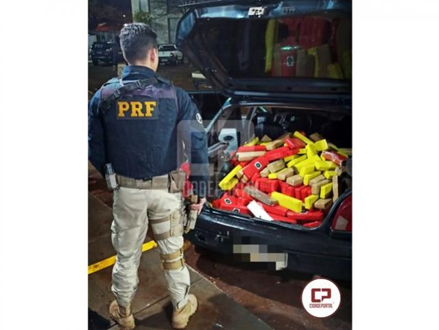 PRF apreende 165 kg de maconha em Santa Tereza D'Oeste