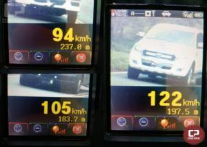 PRE autua 60 motoristas em operação radar no município de Cascavel