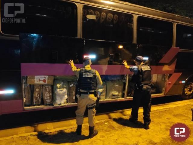 Operação Hórus apreende 04 ônibus de turismo carregados com contrabando em Santa Terezinha
