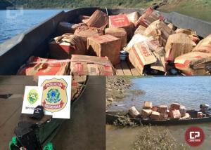 Policiais apreendem embarcação com azeite importado irregularmente em Foz do Iguaçu