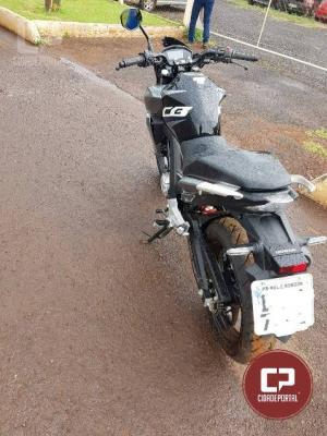 Motociclista fica ferido após se chocar com barranco em Marechal Cândido Rondon