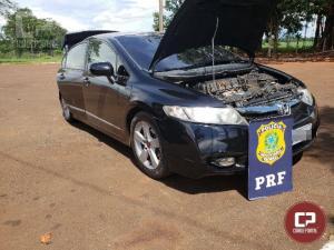 PRF recupera veículo e prende dois indivíduos na unidade operacional de Santa Terezinha de Itaipu/PR