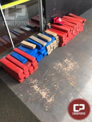 PRE apreende veículo transportando 137 kg de maconha em Cascavel