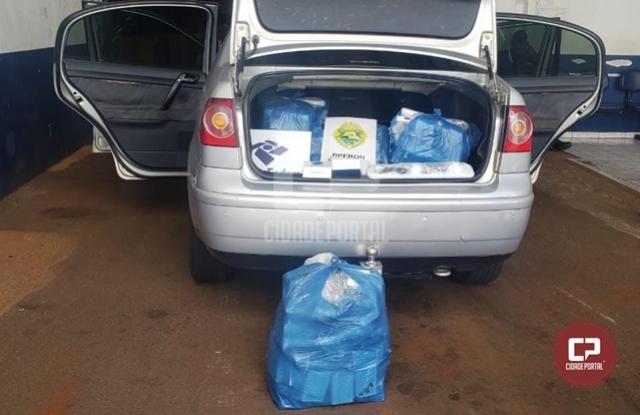BPFron e Receita Federal apreendem veículo carregado com eletrônicos durante Operação Hórus em Toledo
