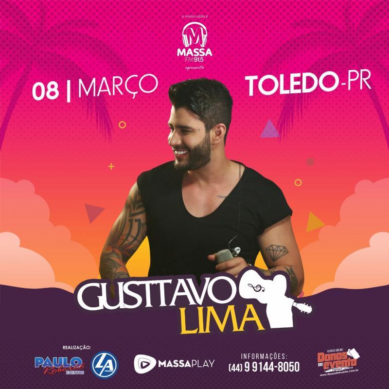 Nesta sexta-feira, 08, tem Gustavo Lima no Centro de Eventos em Toledo