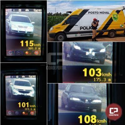 PRE autua 80 motoristas em operação radar no município de Marechal Cândido Rondon