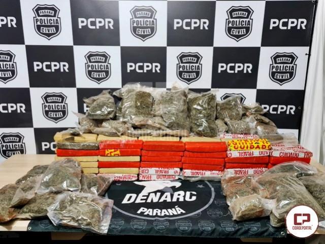 Denarc de Cascavel apreende veículo carregado com drogas e prende uma pessoa em flagrante