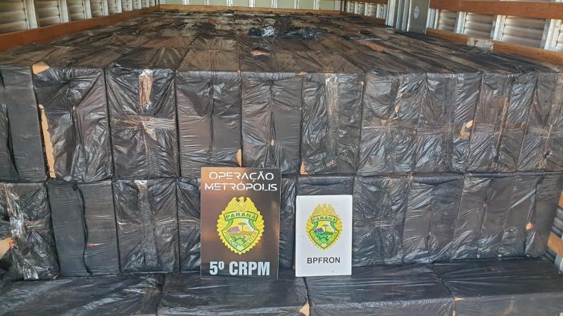 BPFron apreende caminhão carregado com cigarros contrabandeados em Toledo