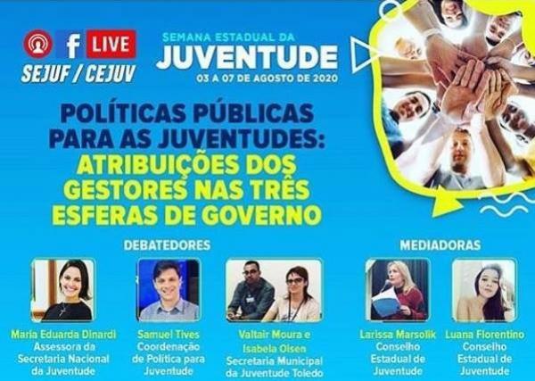 SMJ participa de Live da Semana Estadual da Juventude