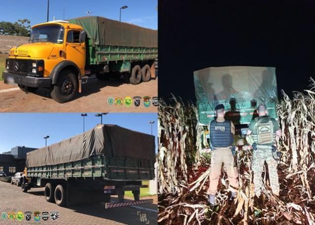 Caminhão carregado com cigarros contrabandeados foi apreendido em Marechal Cândido Rondon