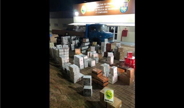 BPFron realiza a maior apreensão de vinhos contrabandeados em Santo Antônio do Sudoeste