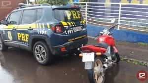 PRF recupera na ponte internacional da amizade motocicleta furtada há 12 anos